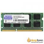 Оперативная память SO-DIMM DDR3 GOODRAM 2GB 1333MHz (GR1333S364L9/2G)