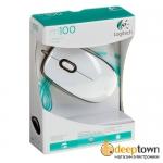 Мышь USB Logitech m100 (белая, 910-001605)