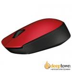 Мышь беспроводная USB Logitech m171 (красная, 910-004641)