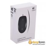 Мышь USB Logitech B100 (чёрная, 910-003357)