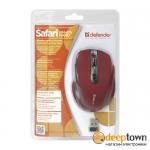 Мышь беспроводная defender Safari MM-675 nano Art.52676 (красная)