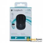 Мышь USB Logitech m175 (чёрная, 910-002778)