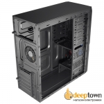 Корпус AeroCool PGS V3X Advance Evil Blue Edition 600Вт (ATX, чёрный, S1414112-M)