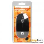 Мышь USB defender NETSPRINTER MM-440 (чёрно-фиолетовая, Art.52445)